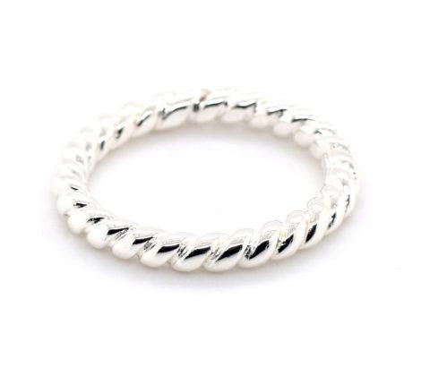 Ring Silber gedreht