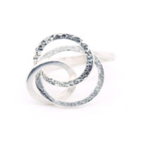 Ring Silber Kreise