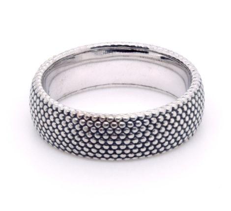 Ring Silber oxidiert Dots