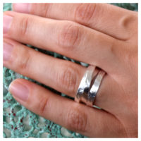 Wickelring Silber an der Hand