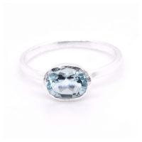 Ring Silber blauer Topas