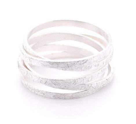 Wickelring Silber eisgekratzt