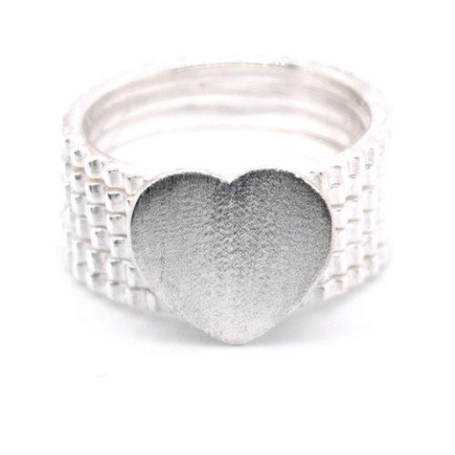 Ring Silber mit Herz