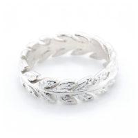 Ring Silber Blätterkranz