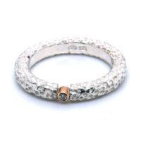 Ring Silber mit Brillant