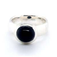 Ring Silber mit Onyx