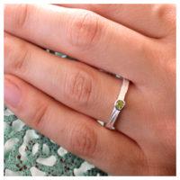 Ring Silber Tumalin an der Hand