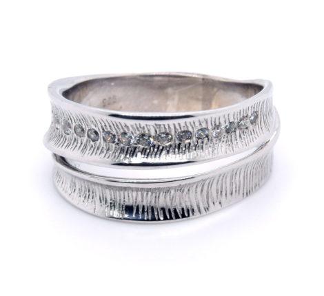 Ring Silber rhodiniert mit Zirkonia