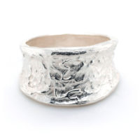 Ring Silber unregelmäßige Struktur