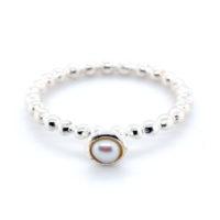 Ring Silber mit Süßwasserperle