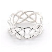 Ring Silber geflochten