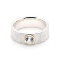Ring Silber weißer Topas