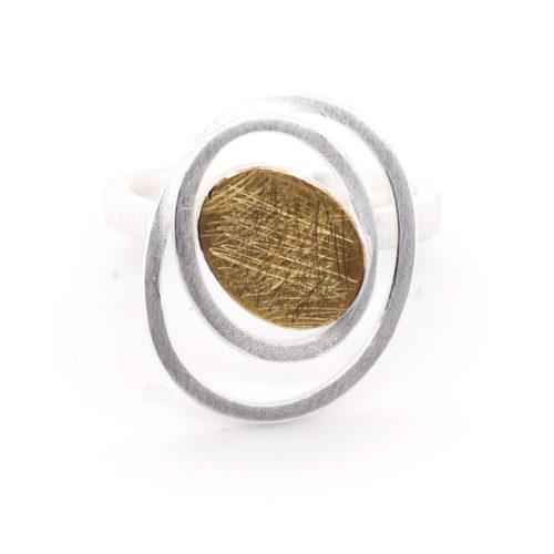 Ring Silber mit 900er Feingold