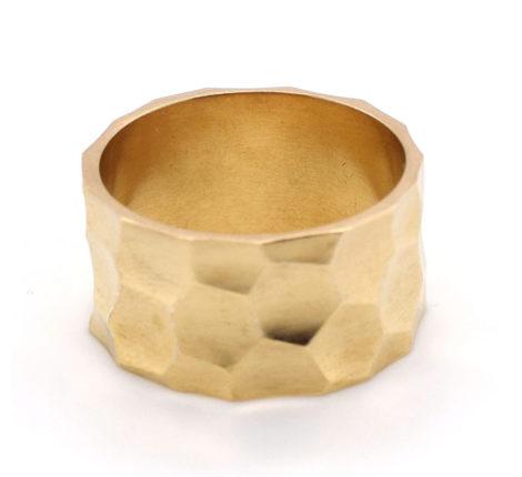 Ring vergoldet gehämmert