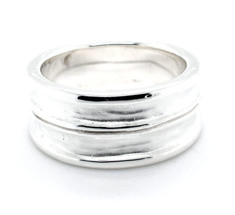 Ring Silber mattiert und glänzend