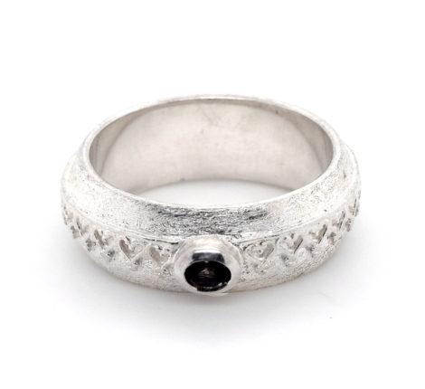 Ring Silber mit Rauchquarz