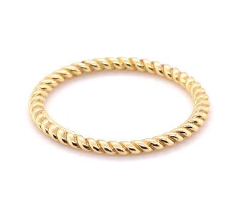 Ring Gelbgold gedreht