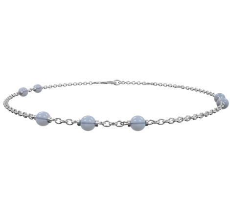 Armband Silber mit Chalcedon
