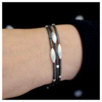 Armband Silber oxidiert am Arm