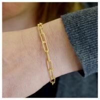 Armband vergoldet am Arm