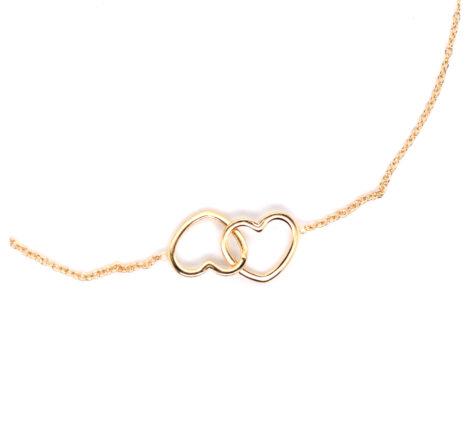 Armband vergoldet verschlungene Herzen