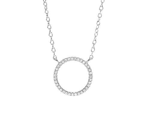 Kette Silber mit Kreis aus Zirkoniasteinen
