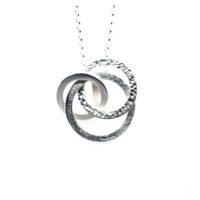 Kette Silber Kreise