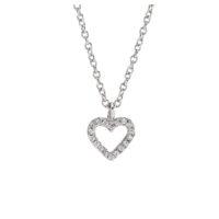 Kette Silber mit Herz aus Zirkonia