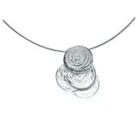 Collier Silber auf Edelstahlseil