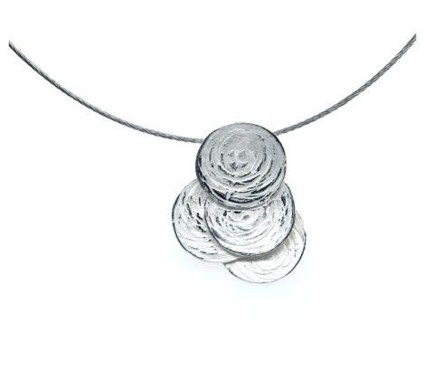 Collier Silber Scheiben