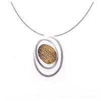 Collier Silber mit Feingold