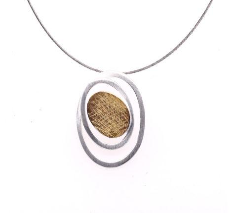 Collier Silber mit 900er Feingold