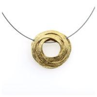 Collier vergoldet Kreis