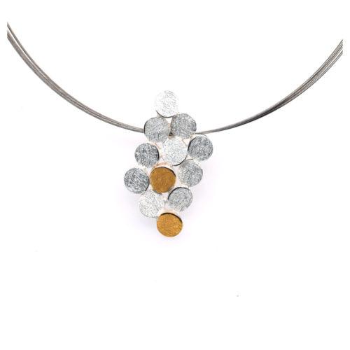 Collier Silber Raute aus kleinen Kreisen