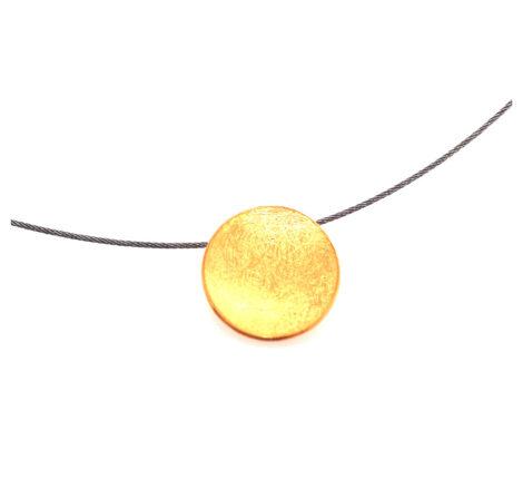 Collier vergoldete Scheibe