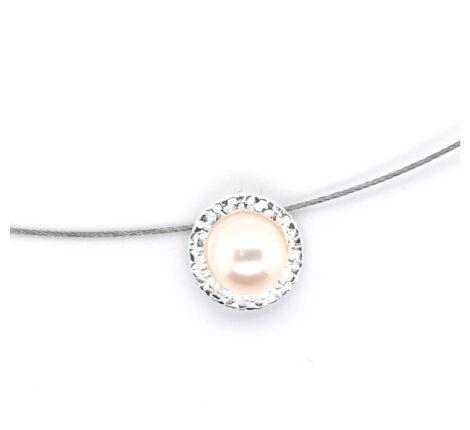 Collier Silber mit Süßwasserperle