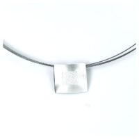 Collier Silber Quadrat