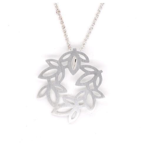 Kette Silber Blätter