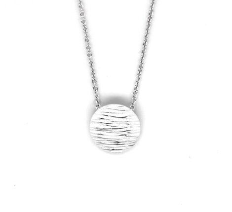 Silberkette mit Wellenstruktur
