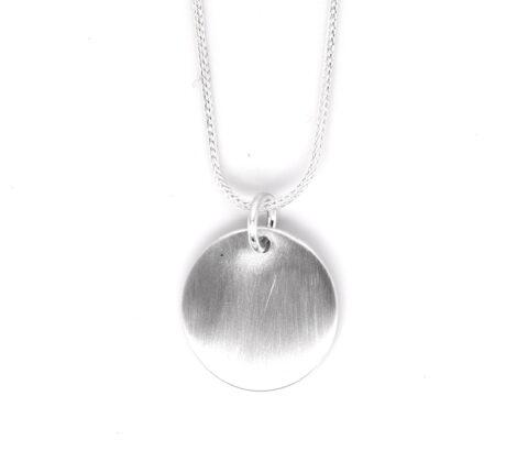 Silberkette mit Gravurplatte