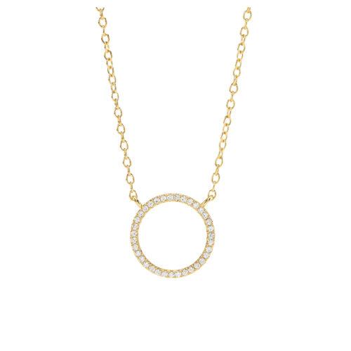 Kette Silber vergoldet Kreis