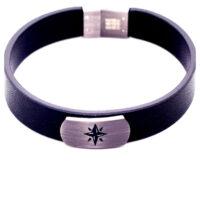 Armband Leder Kompass