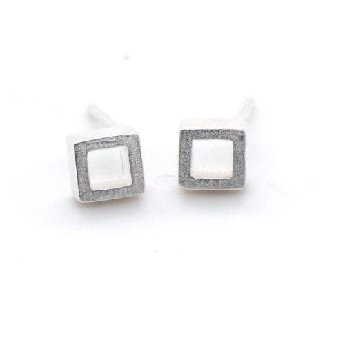 Ohrstecker Silber Quadrate