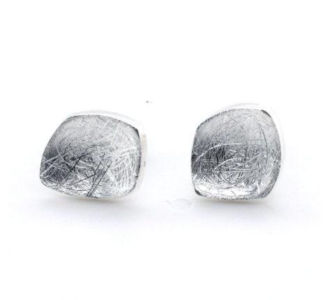 Ohrstecker Silber Vierecke