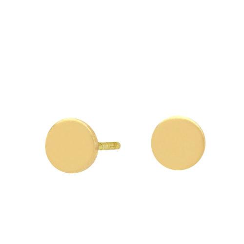Ohrstecker vergoldet Plättchen