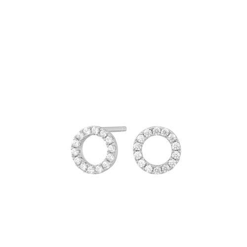 Ohrstecker Silber kleine Kreise mit Zirkoniasteinen