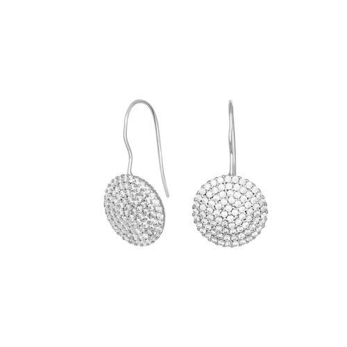 Ohrhänger Silber Scheiben aus Zirkonia