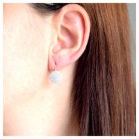 Ohrhänger Silber Zirkonia am Ohr