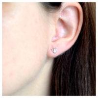 Ohrstecker Silber Krönchen am Ohr