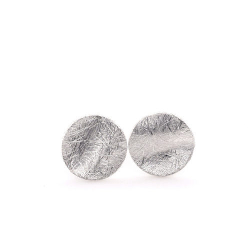Ohrsetcker Silber gewellte Scheiben
